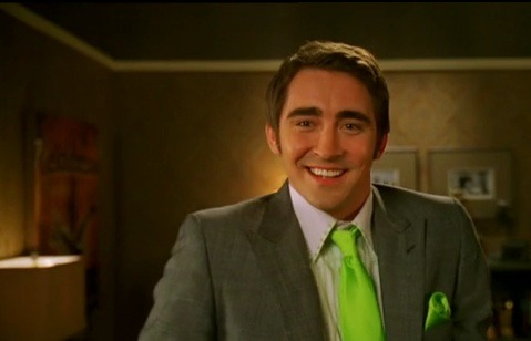 Oh. Lee. Yes. Courtney loves green. Keep the tie on.