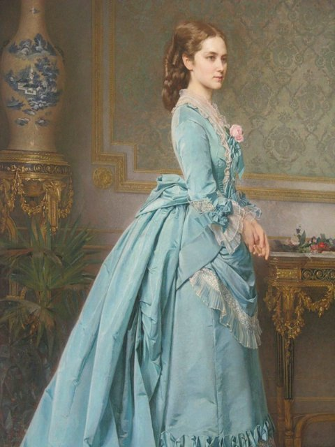 Karl Theodor Fidorovitch Huhn (1830-1877) - The Blue Gown
