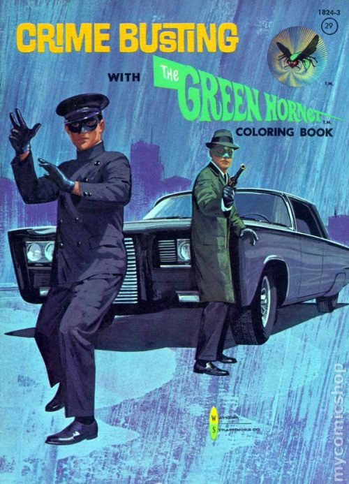 Green Hornet coloring book (1966)
