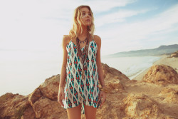Boho Blu moon Exhile ~ tribal print dress ~ Planet Blue