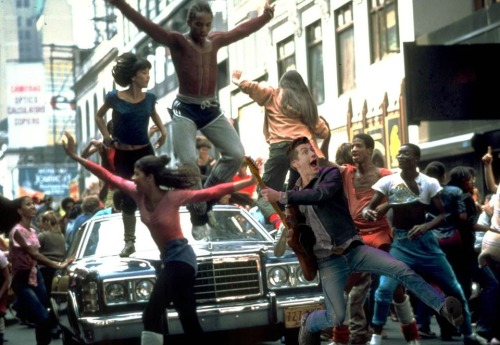 Jumping Alex's cameo in the movie Fame