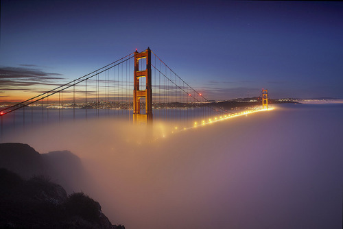 Fog at the Golden Gate #1 - San Francisco by PatrickSmithPhotography on Flickr.