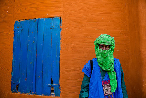 Portrait of a touareg in Segou, Mali by ronnyreportage on Flickr.