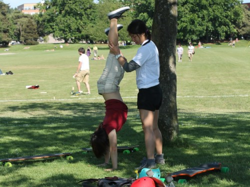 Learning to handstand.  Photo taken 26 May 2012 at Green Lake.
