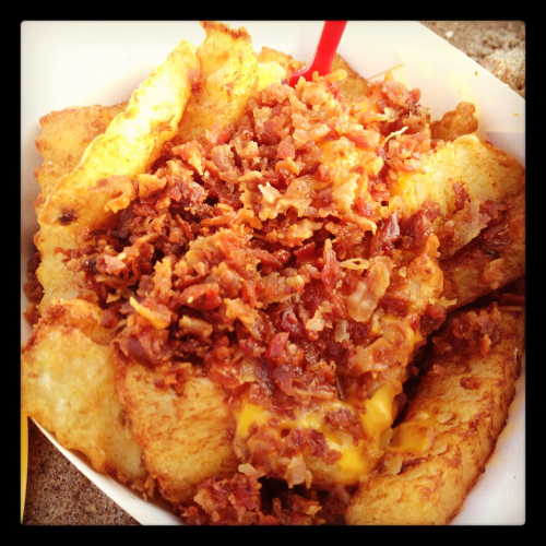 Bacon cheese fries @ Nathan's, Coney Island NY