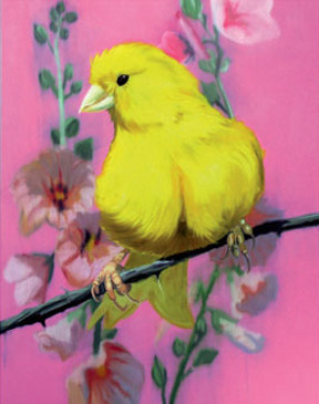 Yellow fellow # 1 - painting by Ann Craven more on my blog