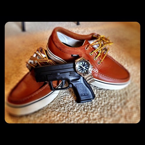 New kicks, ready for the night.  #vans #fresh #seiko #springfield #xd40 (Taken with instagram)