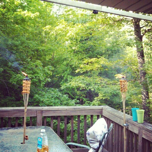 Deck chillin #newhampshire #tiki #deck (Taken with instagram)