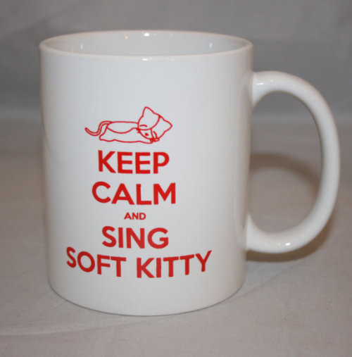 geekymerch:  (via Big Bang Theory Inspired Soft Kitty Mug by KennieBlossoms on Etsy)