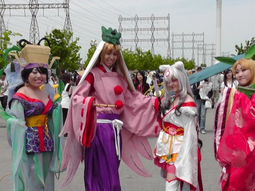 From Anime North 2012! Queen Otohime, Waka, Amaterasu and Kaguya! This group was beautiful on so many levels.
