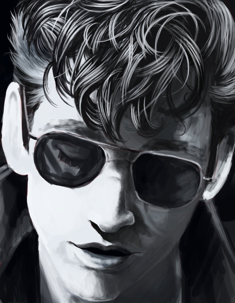 fuckyeaharcticmonkeys:  blakelylikescows:  Alex Turner by diddleh  Holyshitballs.