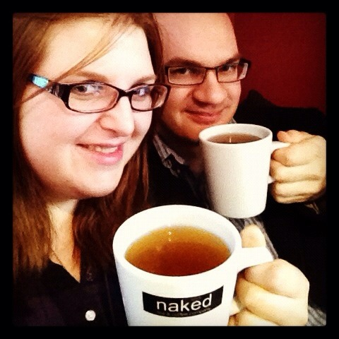 A mugshot of Tris & I enjoying our teas in the Naked Tea & Coffee Company Cafe in Brighton. There is a review of their Pinhead Gunpowder Tea to come later today!