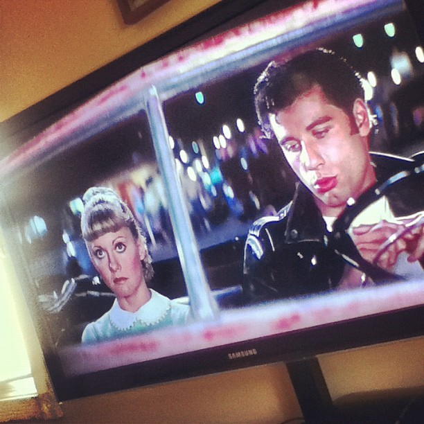 Grease. #movie#momma#goodmovie#chillin (Taken with instagram)