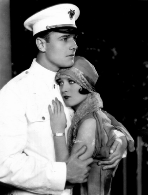 Silent movie star, William Haines and Joan Crawford in the movie, West Point.