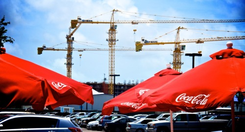 Coke adds life; Baha Mar construction site; Nassau, Bahamas.