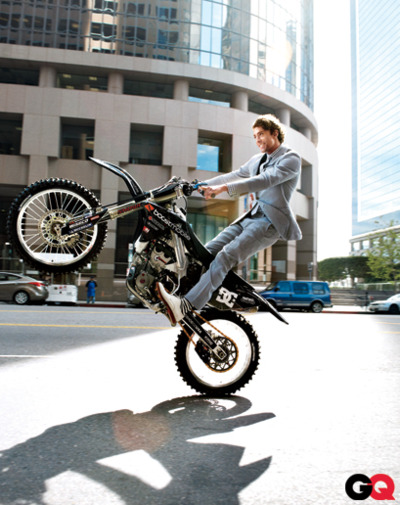we-arethewildthings:  Travis Pastrana. On a bike. In a suit. Ovaries? Good as gone.