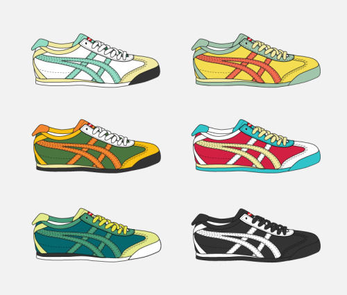 My take on the Onitsuka Tiger series by Asics ULTIMATE 81. Hyping it up with some retro color combo, cause that's what's it all about.