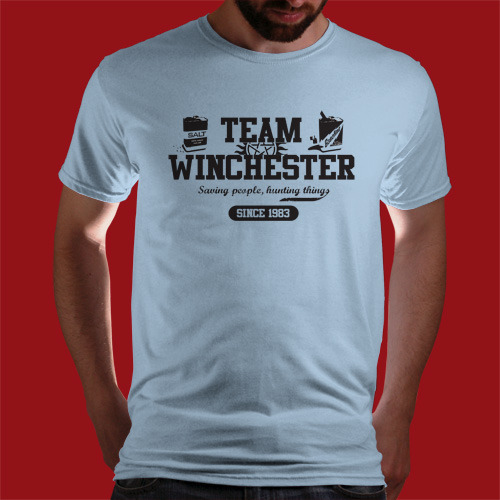 "qwertee:  ""Team Winchester"" is today's tee on www.Qwertee.com Get this great design now for the super price of £8/€10/$12 for 24 hours only. Be sure to ""Like"" this for 1 chance at a FREE TEE this weekend, ""Reblog"" it for 2 chances and ""Follow"" us for a 3rd chance (if you're not already:) Thanks Guys!"