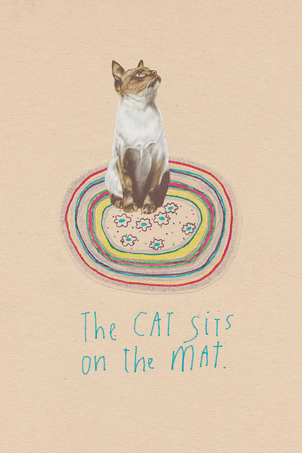hollyleonardson:  The Cat Sits On The Mat on Flickr.