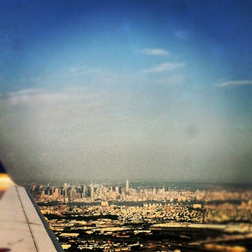 And hello, Manhattan (Taken with Instagram at Newark Liberty International Airport (EWR))