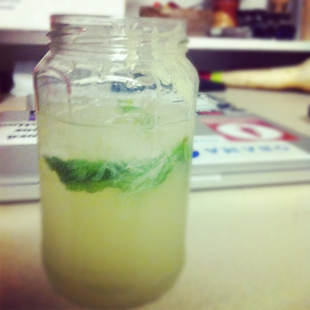 Sippin on mint lemonade on the long weekend