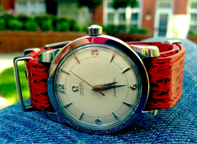 "Vintage hour.  Enjoying a relaxing Memorial Day with a an Omega Seamaster ""bumper"" automatic c. 1953."
