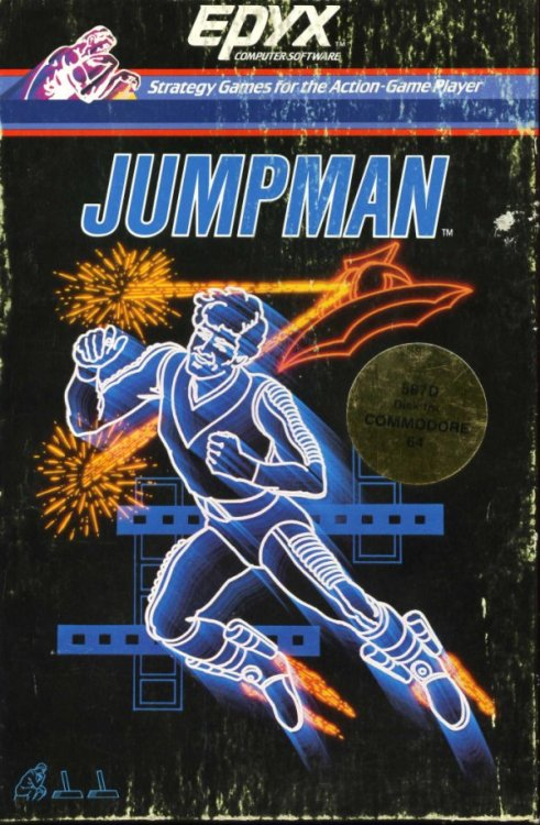 Jumpman ohvideogames:  Developed by Epyx in 1983 for Commodore 64  Jumpman was also the original name for Mario in the 1981 Donkey Kong arcade game.