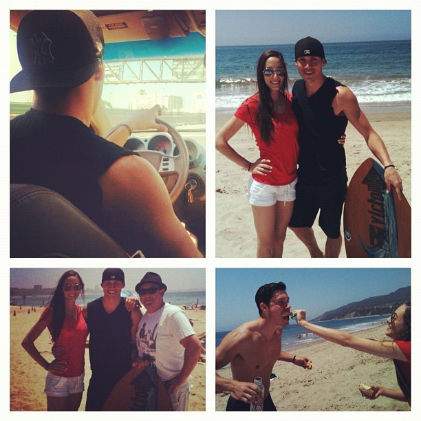 Day at the beach w @zebringle and dani  (Taken with instagram)