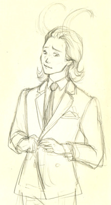 Loki's everywhere. i couldn't help myself. but MEN ARE SO HARD TO DRAW. but i post too many drawings of females T_T.