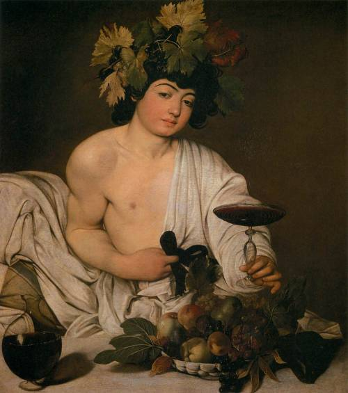 bacchus. caravaggio. 1596, oil on canvas, 95 x 85 cm.