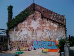 Vhils in Baltimore for OWB