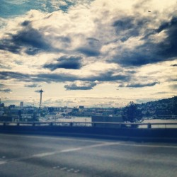 #seattle #city #clouds #spaceneedle (Taken with instagram)