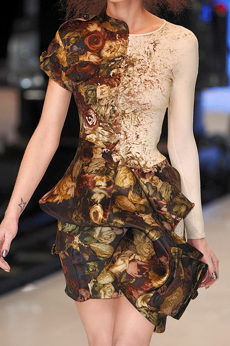 ali-en:  amethyst-sky:  Alexander McQueen Spring 2010 RTW  this has like an old world feeling