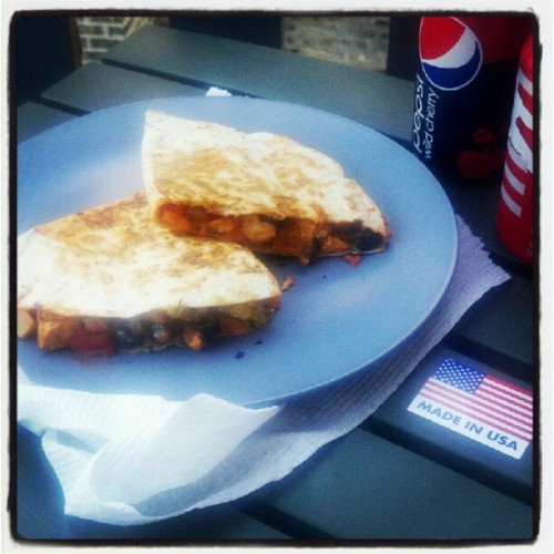 Memorial Day quesadillas with @rinnegade  (Taken with instagram)