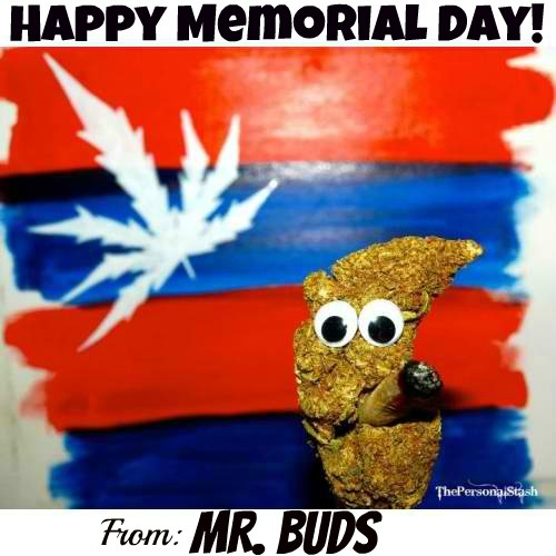 Happy Memorial Day! from MR BUDS!