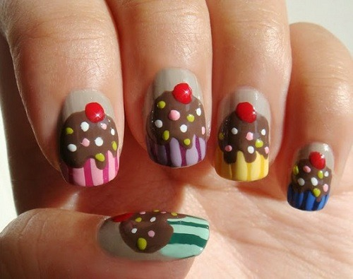 nailpornography:  Birthday Cupcake NOTW inspiration!