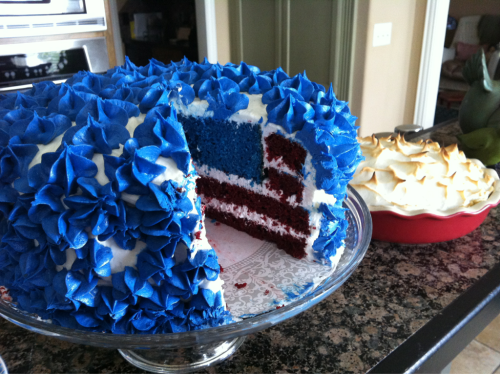 I made a memorial day cake and lemon meringue pie. Yum!