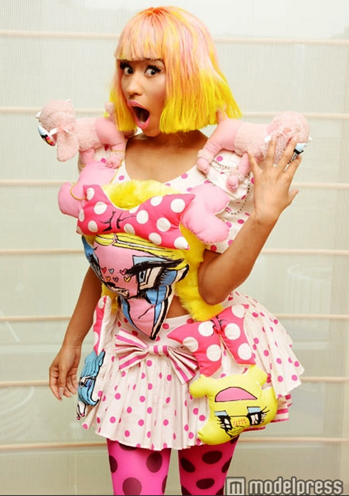 Nicki Minaj wore a Shojono Tomo dress to Zip and MTV Japan this week.