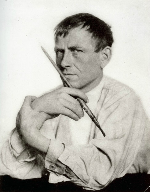Otto Dix, photo by Hugo Erfurth
