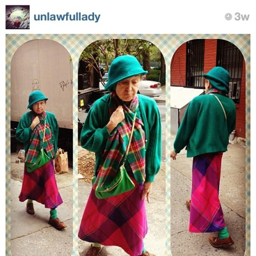 This elderly lady has so much swag! Lean walking, haha. Stole this from @unlawfullady #fashion #lady #woman #swag #lean #mean #style #streetstyle I'm a fan! (Taken with instagram)