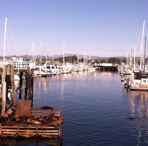 A perfect place for dinner on our first evening. Monterey.  Photo: 5/21/12. Karen Glosser.