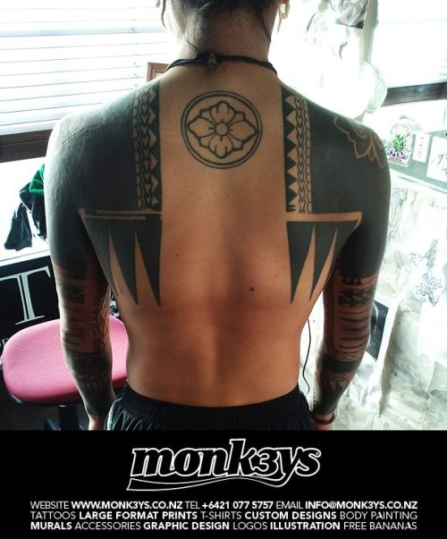 Backpiece by Corey Weir, Monk3ys Tattoo, Auckland, New Zealand