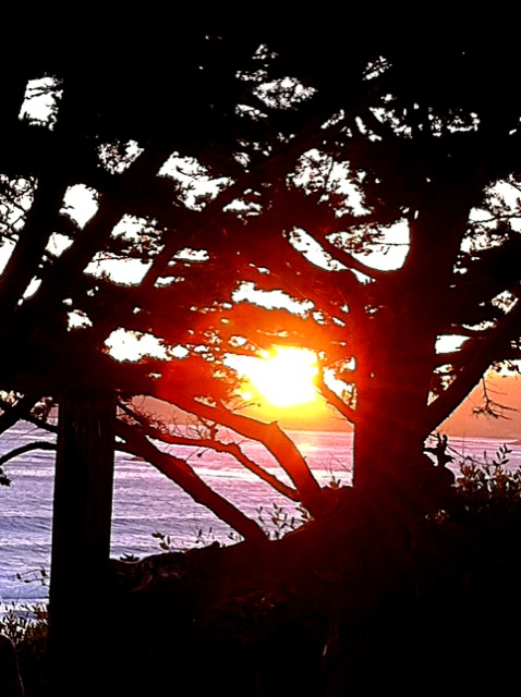 Carmel Sunset.  Photo: 5/22/12. Karen Glosser.