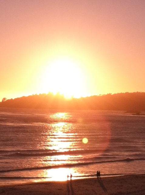 Sunset. Carmel, CA.  Photo: 5/22/12. Karen Glosser.