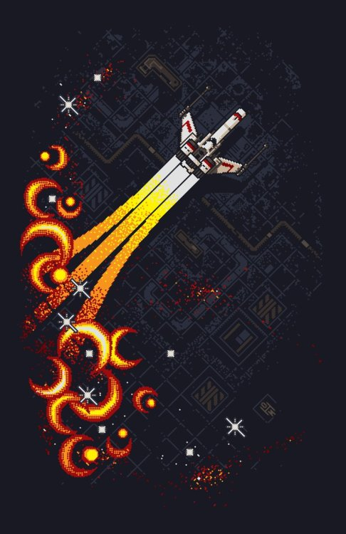 it8bit:  Starfighter Created by Stephen Rushbrook Buy the print at deviantART.