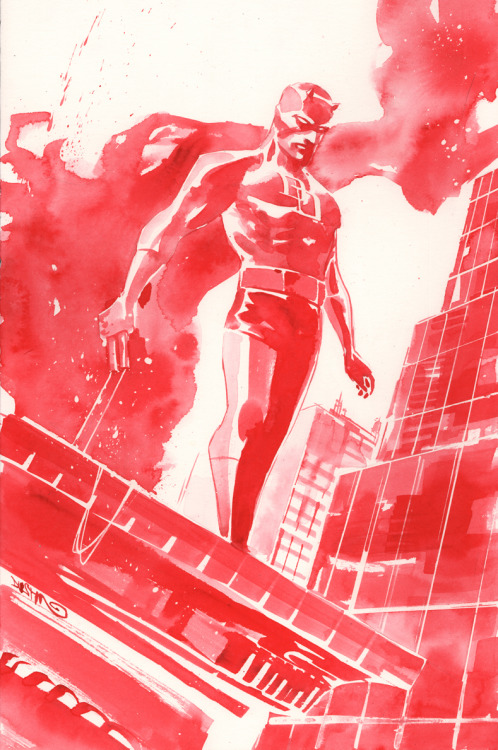 Why hasn't Marvel hired Dustin Nguyen to do an ENTIRE Daredevil comic in this style?! (Source: duss005)