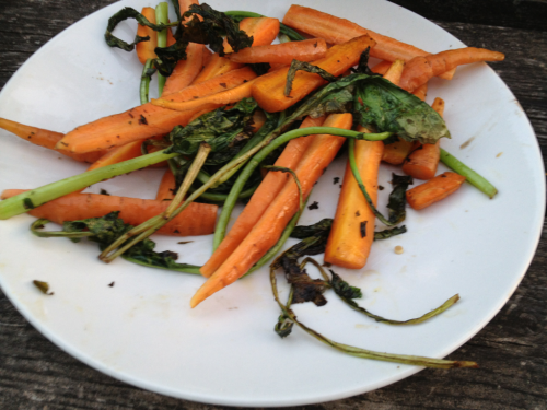 Grilled carrots on the farm!