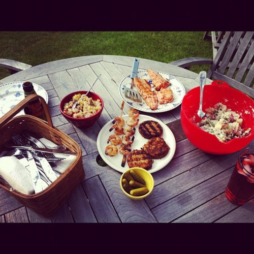 Memorial Day spread with the pops and lil bro. (Taken with instagram)