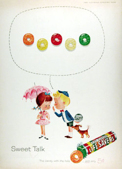 oldiesconnection:  1961 Life Savers Candy (via 1961 Lifesavers Candy Classic Vintage Print Ad)   He's a sweet talkin' guy…