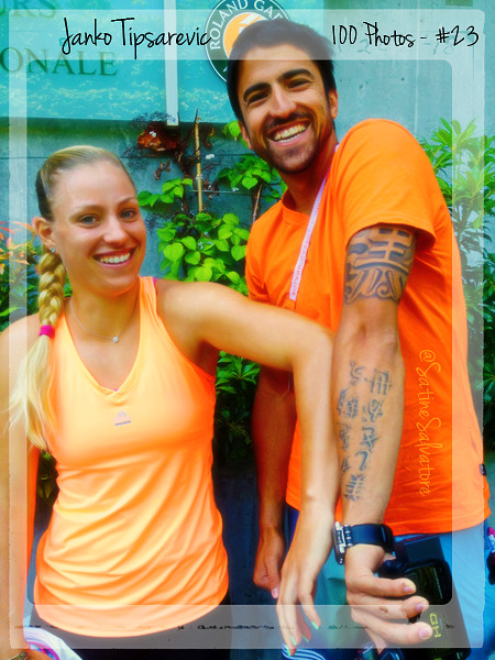 satine-salvatore:  Janko Tipsarevic: 100 Photos - 23/100 - Janko with Angelique Kerber during 2012 Roland Garros, from her twitter
